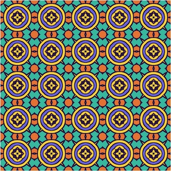 Schönes nahtloses muster mit abstraktem stil