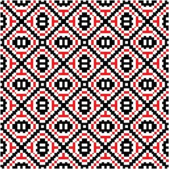 Schönes nahtloses muster mit mozaic motivstil