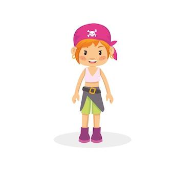 Schönes piratenmädchen