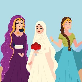 Schönes porträt arabische bräute
