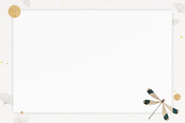 Schönes rahmendesign mit libelle