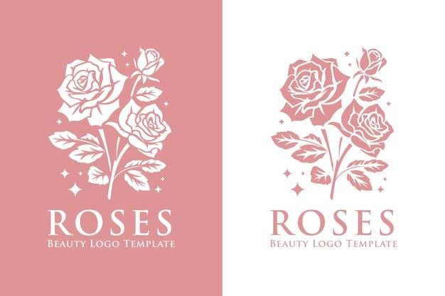 Schönes rosenblütenlogo