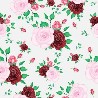 Schönes rosenmuster mit aquarell