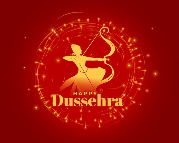Schönes rotes dussehra-festival wünscht kartendesign