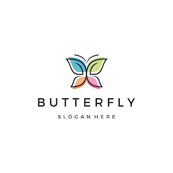 Schönes schmetterlings- oder monarch-logo