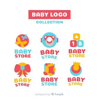 Schönes set moderne baby-logos