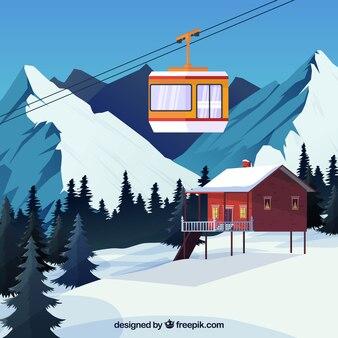 Schönes skistation design
