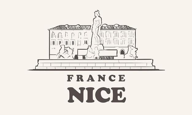 Schönes skyline-illustrationsdesign