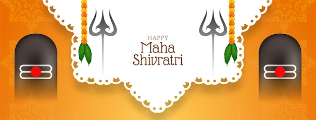 Schönes traditionelles festival-bannerdesign maha shivratri
