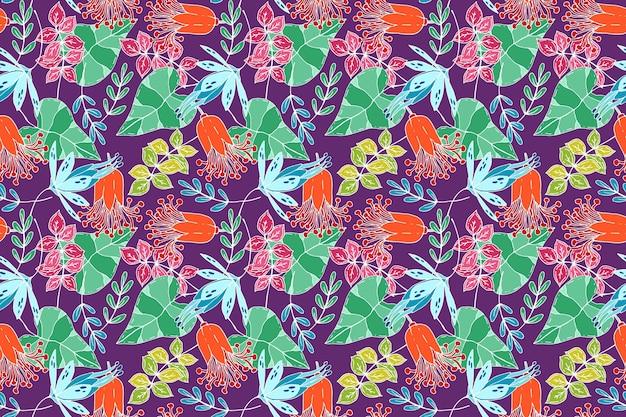 Schönes tropisches blumenmuster