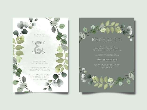 Schönes und elegantes blumenkonzept der hochzeitseinladungskarte