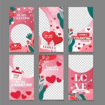Schönes valentinstag-geschichtenpaket