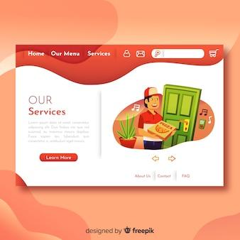 Schönes webdesignkonzept mit flachem design