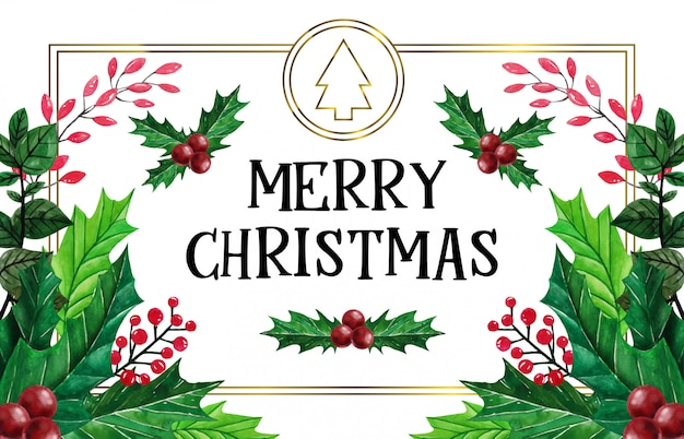 Schönes weihnachten in der aquarellillustration