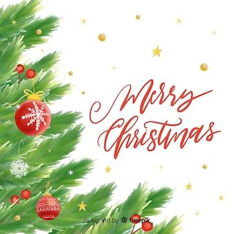 Schönes weihnachten verlässt hintergrund