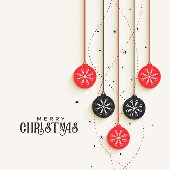Schönes weihnachtsdekoratives bälle, das design grüßt