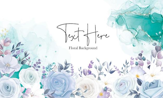 Schönes weißes florales hintergrunddesign
