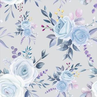 Schönes weißes nahtloses blumenmusterdesign