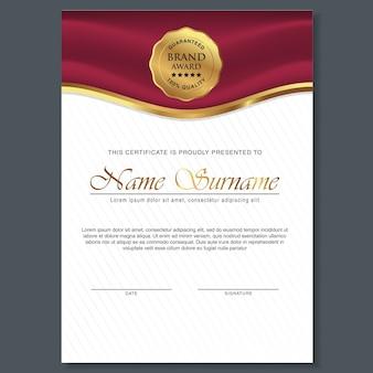Schönes zertifikat-template-design mit dem besten award-symbol
