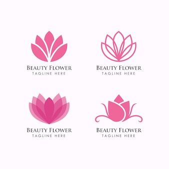 Schönheit blumen logo vorlage