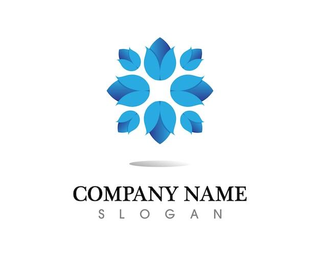 Schönheit blumen logo