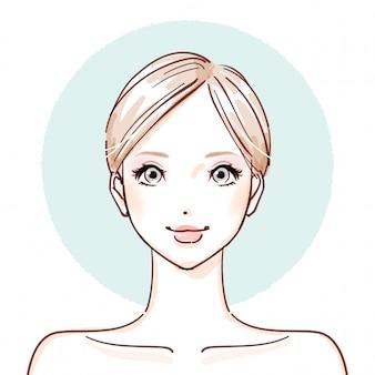 Schönheit frau_nach make-up