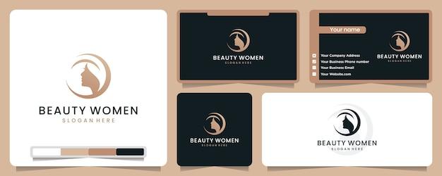Schönheit frauen logo illustration