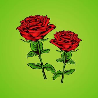 Schönheit hand gezeichnete rosen