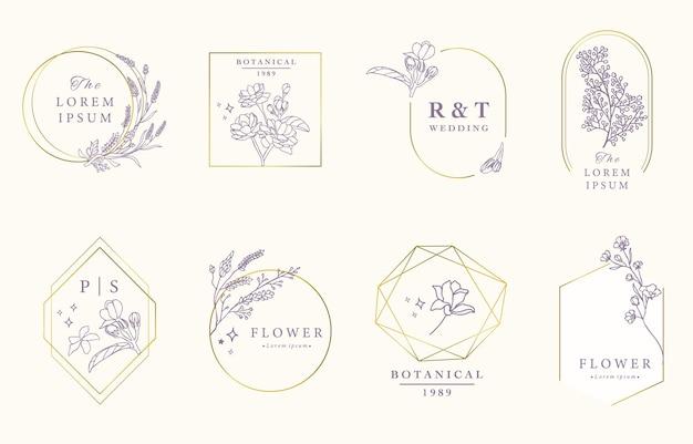 Schönheit okkulte designkollektion mit lavendel, jasmin.