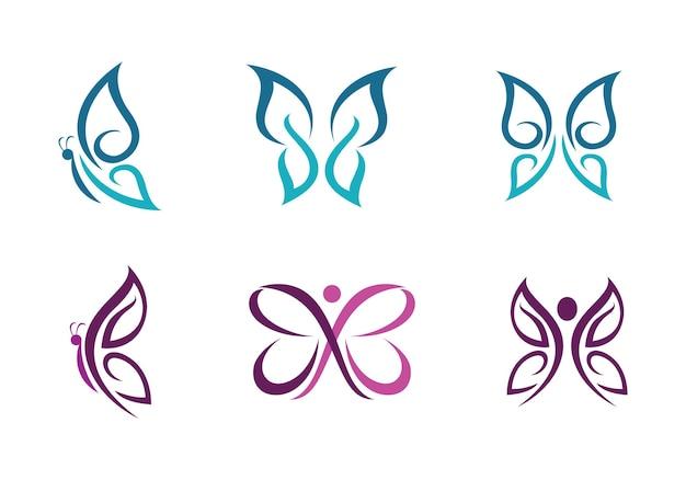 Schönheit schmetterling logo vorlage vektor icon design