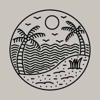 Schönheit sommer grafische illustration vektorgrafiken t-shirt design