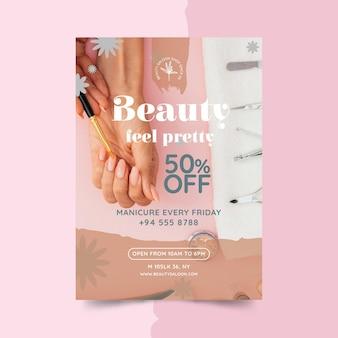 Schönheit und gesundes salonplakat