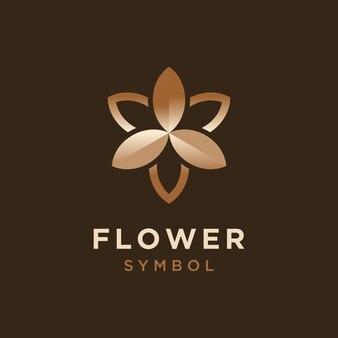 Schönheits-blumen-logo