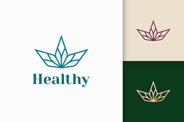 Schönheits- oder gesundheitslogo in blumenform passend für vitamin- oder serumprodukt