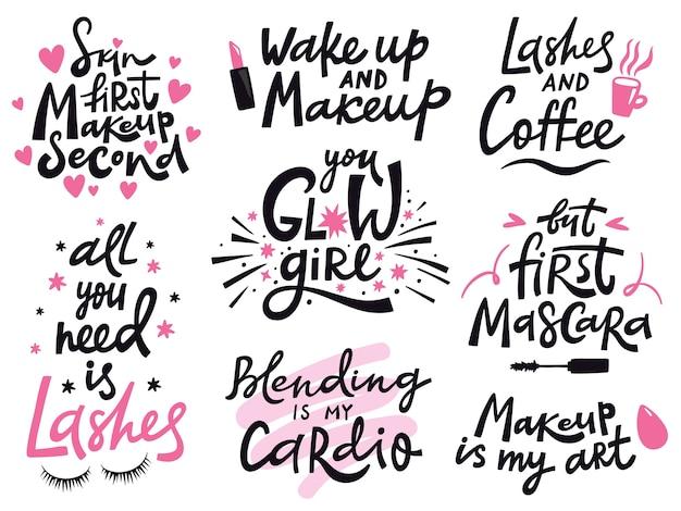 Schönheits- und make-up-zitate