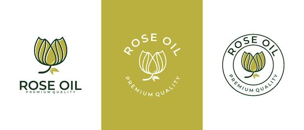 Schönheitsblume und florale botanische logovorlage für spa, salon, haut- und haarpflege
