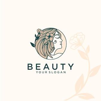 Schönheitsfrauen, natürlich, logo-design-inspiration