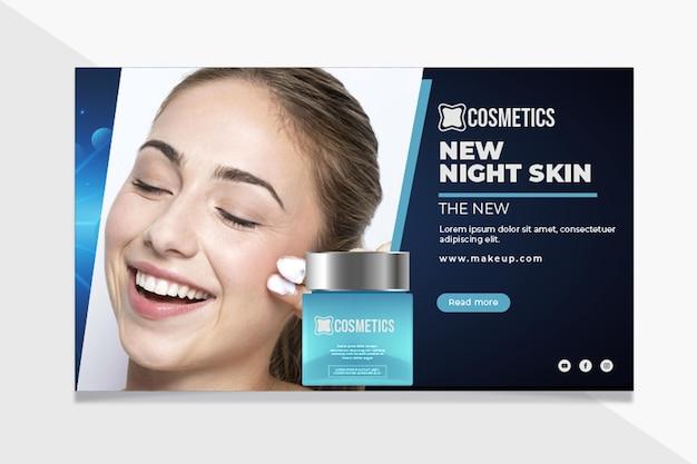Schönheitsgesichtskosmetik-bannerschablone