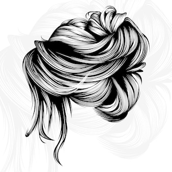 Schönheitshaarvektordesignillustration