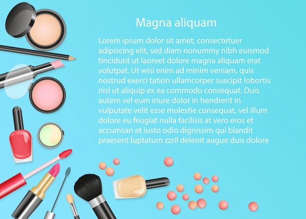 Schönheitskosmetik make-uphintergrund