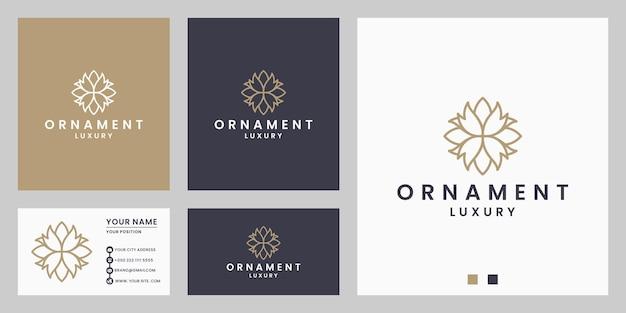Schönheitsluxusblume, florales ornament-logo-design für salon, spa, resort