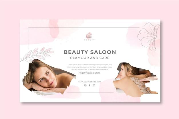 Schönheitssalon-banner-vorlage