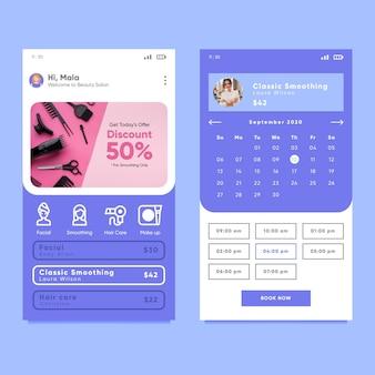 Schönheitssalon buchungs-app