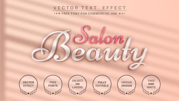 Schönheitssalon mit schatten-texteffekt