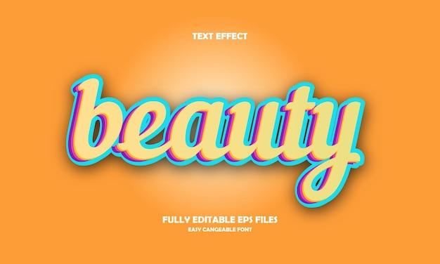 Schönheitstexteffekt