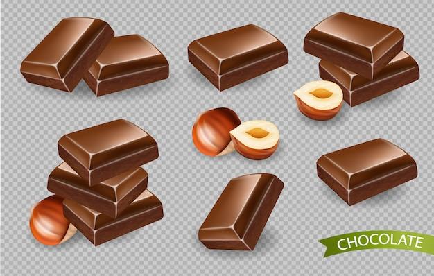 Schokolade auf transparentem
