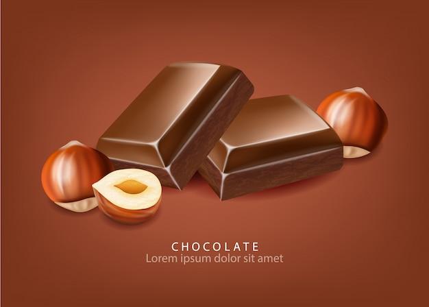 Schokolade und nüsse