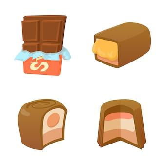 Schokoladen-icon-set