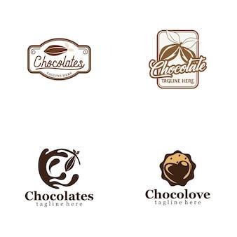 Schokoladen-logo-sammlung