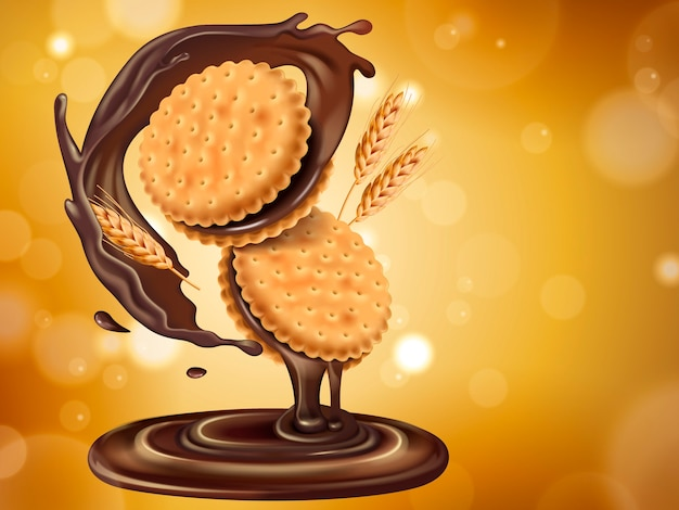 Schokoladen-sandwich-keks kann als gestaltungselement verwendet werden